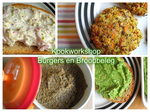 Voedwel, natuurlijk voedingsadvies, kookworkshop burgers en broodbeleg