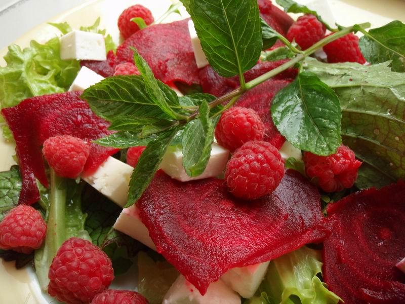 -Bietensalade met frambozen