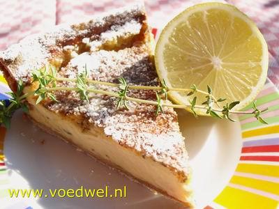 Voedwel, natuurlijk voedingsadvies, citroentaart