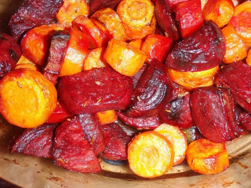 -Geroosterde wortelgroenten