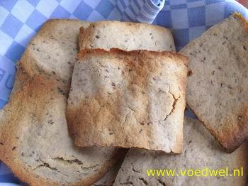 -Glutenvrij vlakbrood (zonder gist)