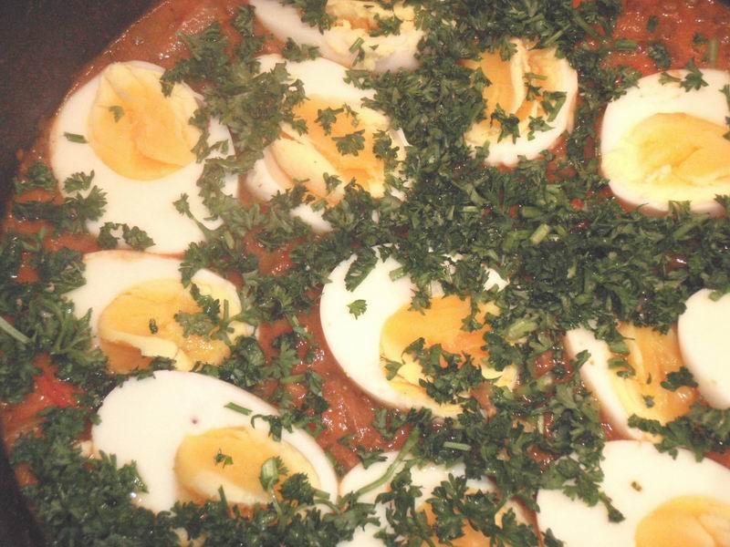 -Linzencurry met eieren