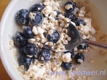 -Super ontbijt met blauwe bessen