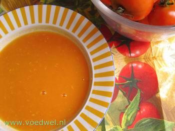 Voedwel, natuurlijk voedingsadvies, tropische tomatensoep