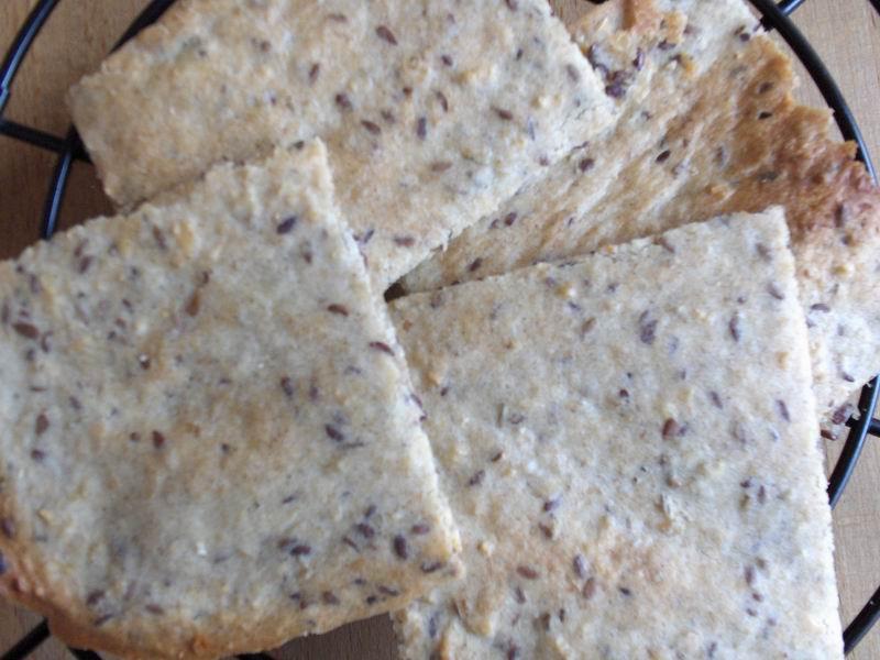 -Vlakbrood (zonder gist) met lijnzaad