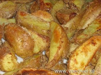 Krokante aardappelschijfjes