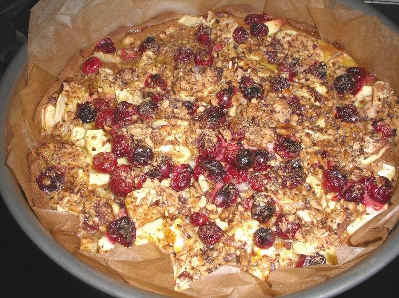 Appeltaart met cranberry's