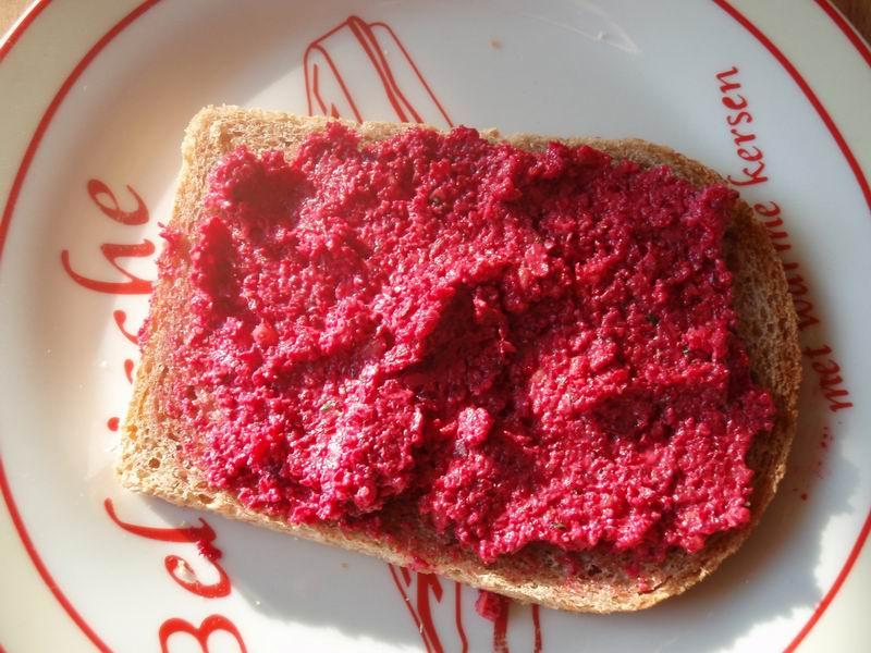 Bieten broodbeleg met Parmezaanse kaas