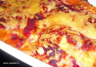 Rode lasagne