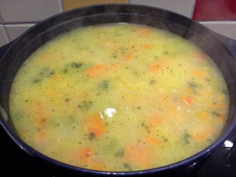 Wortel-amandel soep