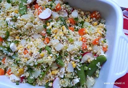 Zomerse gierstsalade