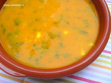 -Pompoensoep met tomaten