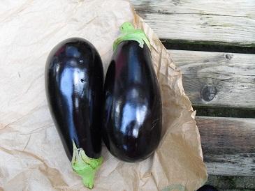 Voedwel, aubergines