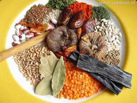 Voedwel, evenwichtige vegetarische maaltijd